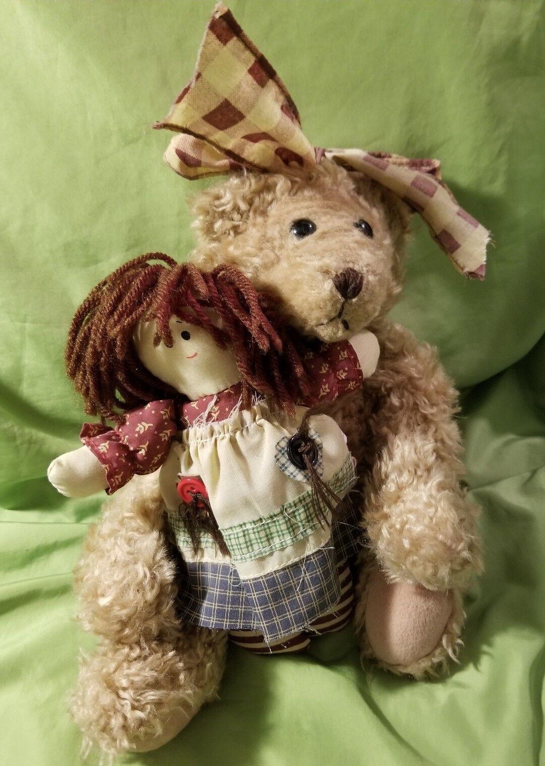 VERY RARE House Of Lloyd Plush Bear w Rag Doll  Stuffed Animal Forever Friends