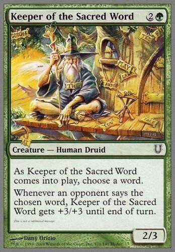 4x Keeper of the Sacred Word MTG MAGIC Unh Unhinged English