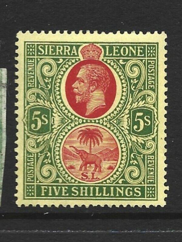 Sierra Leone Scott 117 5-shilling George V Unused Hinged VF