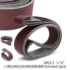 "6pcs/Set 2"" x 72""  Makita Abrasive Sanding Sander Belt 10 Pack Sandpaper Belts"
