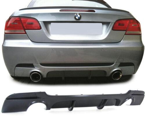 Heck Diffusor Einsatz beidseitig Duplex Performance Look für BMW 3ER E92 Coupe