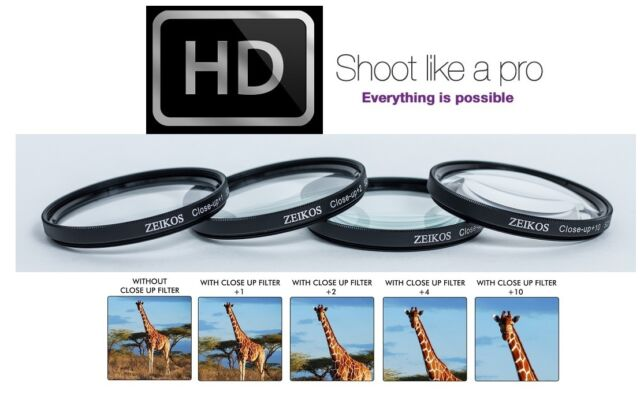 for Canon PowerShot G15 G16 58mm 4PC Macro Close up Filter Set 1+2+4+10