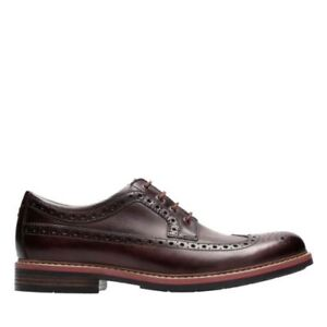 2634c471914c3 Details about NEW CLARKS BOSTONIAN MELSHIRE WING COGNAC LEATHER LACE UP  WINGTIP COMFORT SHOES