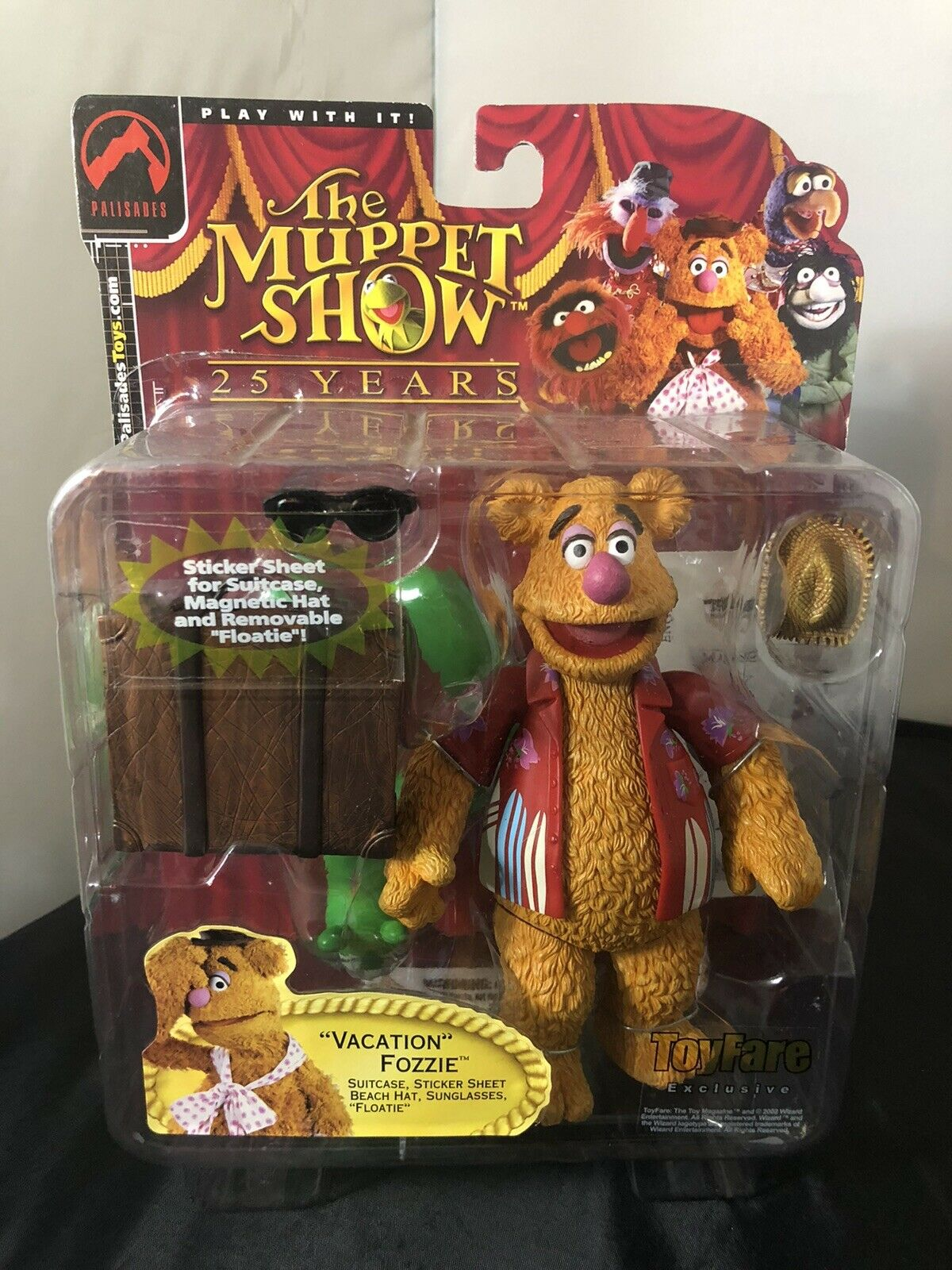 PALISADES MUPPET SHOW 25years 'Vacation' FOZZIE BEAR FIGURE, Spielzeugfare Exclusive