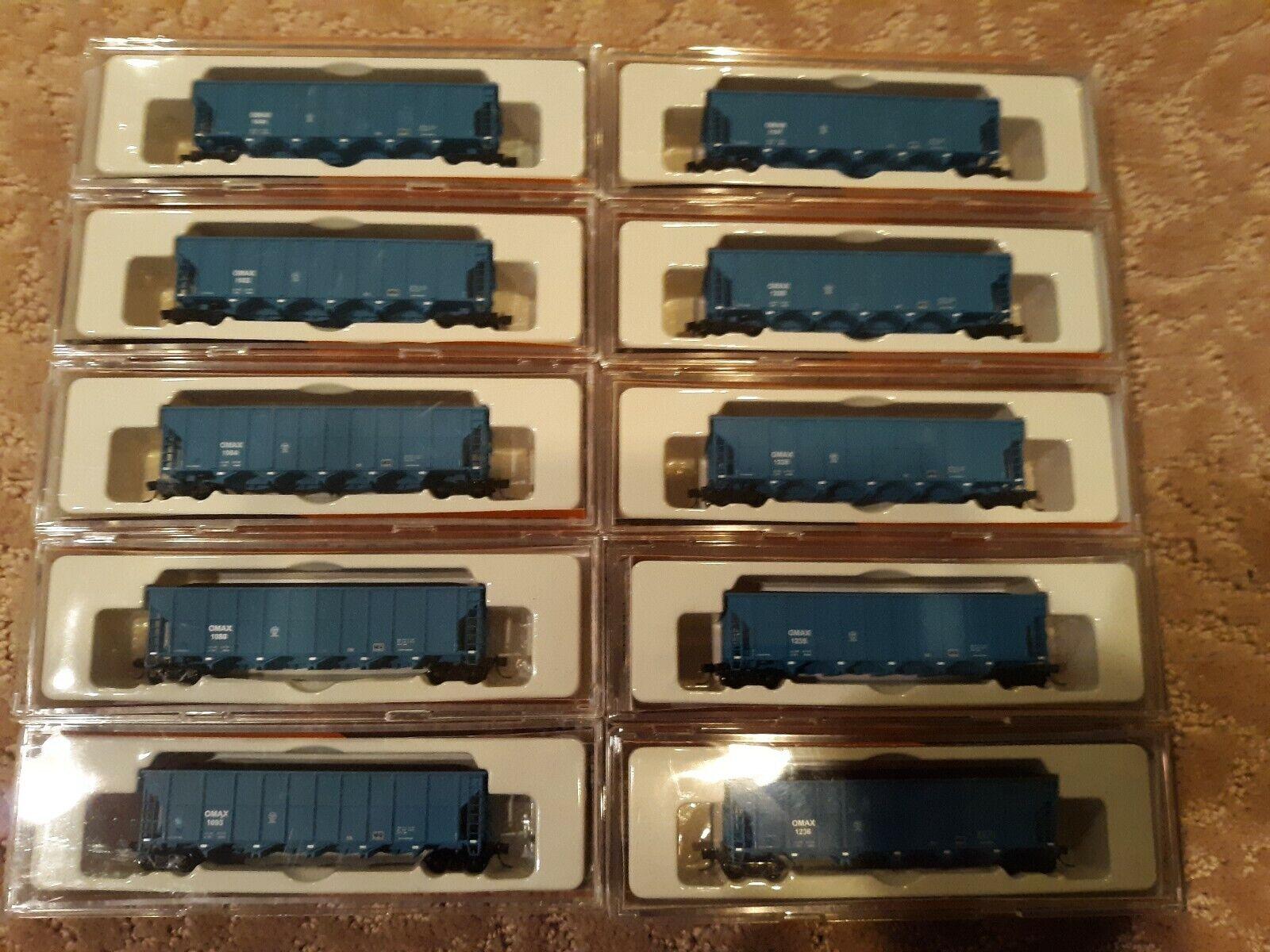 Fox Valley N Scale Trinity RD-4 tolvas - 10 coches-omax-Coches Azul Hermoso