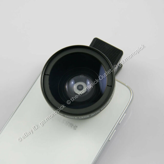 HD 2in1 37mm 0.45X Macro Super Wide Angle Lens with mobile clip mount holder