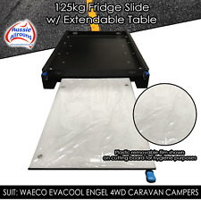 Fridge Slide With Extra Pull Out Bench Cutting Board Table - 4WD Camper Parts
