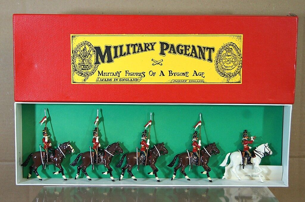 JACKLEX MILITARY PAGEANT BRITISH ARMY MOUNTED 16th LANCERS Circa 1900 MIB na