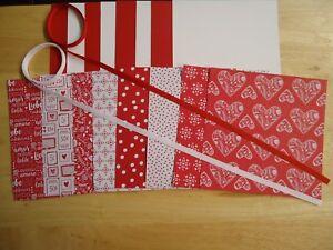 Stampin-Up-SENDING-LOVE-6-X-6-034-VALENTINE-039-S-Designer-Paper-Card-Kit-RIBBON