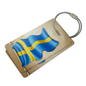 Vintage Sweden Flag Swedish Suitcase Bag Id Luggage Tag Set Ebay