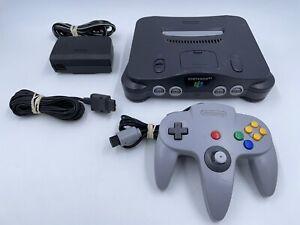 Original Nintendo 64 Console Bundle N64 Controller Cables TESTED READ!!! NUS-001