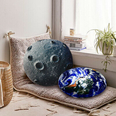 3D Stuffed Rock Stone Cushion Planet Pet Floor Pillows Throw Toys Jupiter  Earth