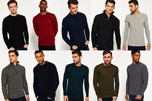 New-Mens-Superdry-Knitwear-Various-Styles-amp-Colours