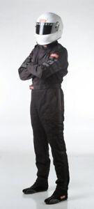RACEQUIP-RACESUIT-BLACK-LARGE-SPEEDAY-RACECAR-SFI-3-2A-1-DRIVING-SUIT