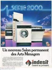 PUBLICITE ADVERTISING 105  1983  INDESIT  lave vaisselle lave linge frigidaire