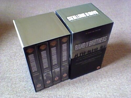 1 of 1 - Band Of Brothers 4 x UK PAL VHS VIDEO BOX SET 2002 Tom Hanks Steven Spielberg