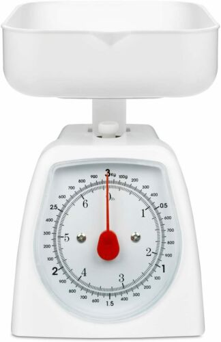 White Hanson mechanical kitchen scale brand new