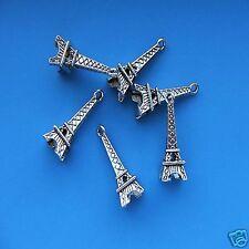 20 x Tibetan Silver 3d Eiffel Tower Pendant Charms Paris