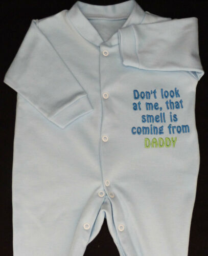 Dont Look At Me That Smell Is Daddy Baby Grow Vest Babies Clothes Funny Gift
