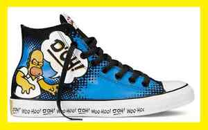 85ab3bc126e3 Converse Chuck Taylor ALL STAR HI Shoes The Simpsons 141392C Homer ...