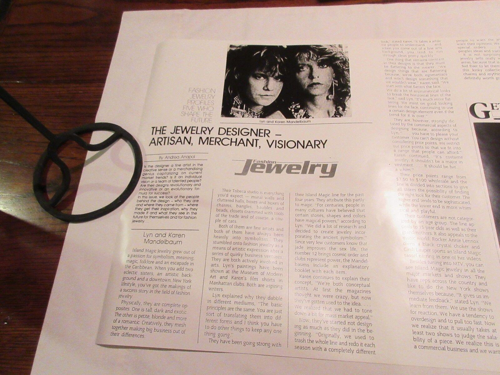 "Island Magic , Jewelry , Posters , 17"" X 22"" , Lot of 4"