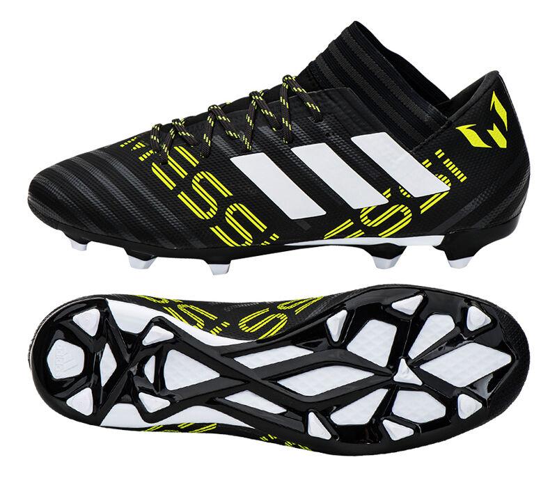 Adidas NEMEZIZ Messi 17.3 FG - BY2413 Soccer Cleats Football Shoes Stivali Nero