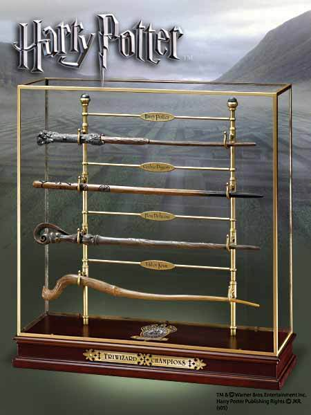 HARRY POTTER  TRIWIZARD CHAMPIONS WAND COLLECTOR SET NOBLE COLLECTION