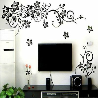 Flower Vine Removable Vinyl Decal DIY Art Mural Home Decor Room Wall Sticker