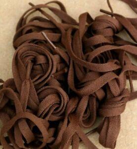 LACES-19-x-Pairs-70-cm-28-034-Long-0-8-cm-Wide-Nylon-Dark-Brown-Short-Sport-Shoe