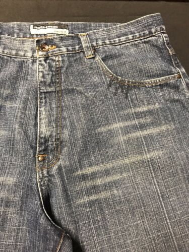 hip Sz baggy Denim Jeans men loose Coton Blue Roca m 40x33 hop Distressed Wear qI1x7Z