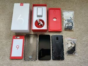 OnePlus-6-256GB-A6003-Midnight-Black-Factory-Unlocked-8GB-Ram-For-Parts