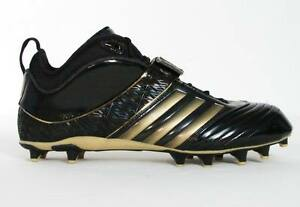 pretty nice 6a455 b3b4f Image is loading Adidas-RB619-Fly-Black-amp-Gold-Football-Cleats-