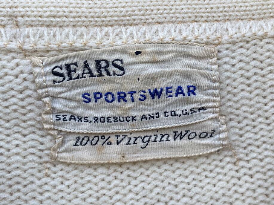 Vintage School Varsity Football Sweater Sears Let… - image 6
