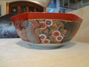 Large Fine Antique Japanese Imari Porcelain Bowl