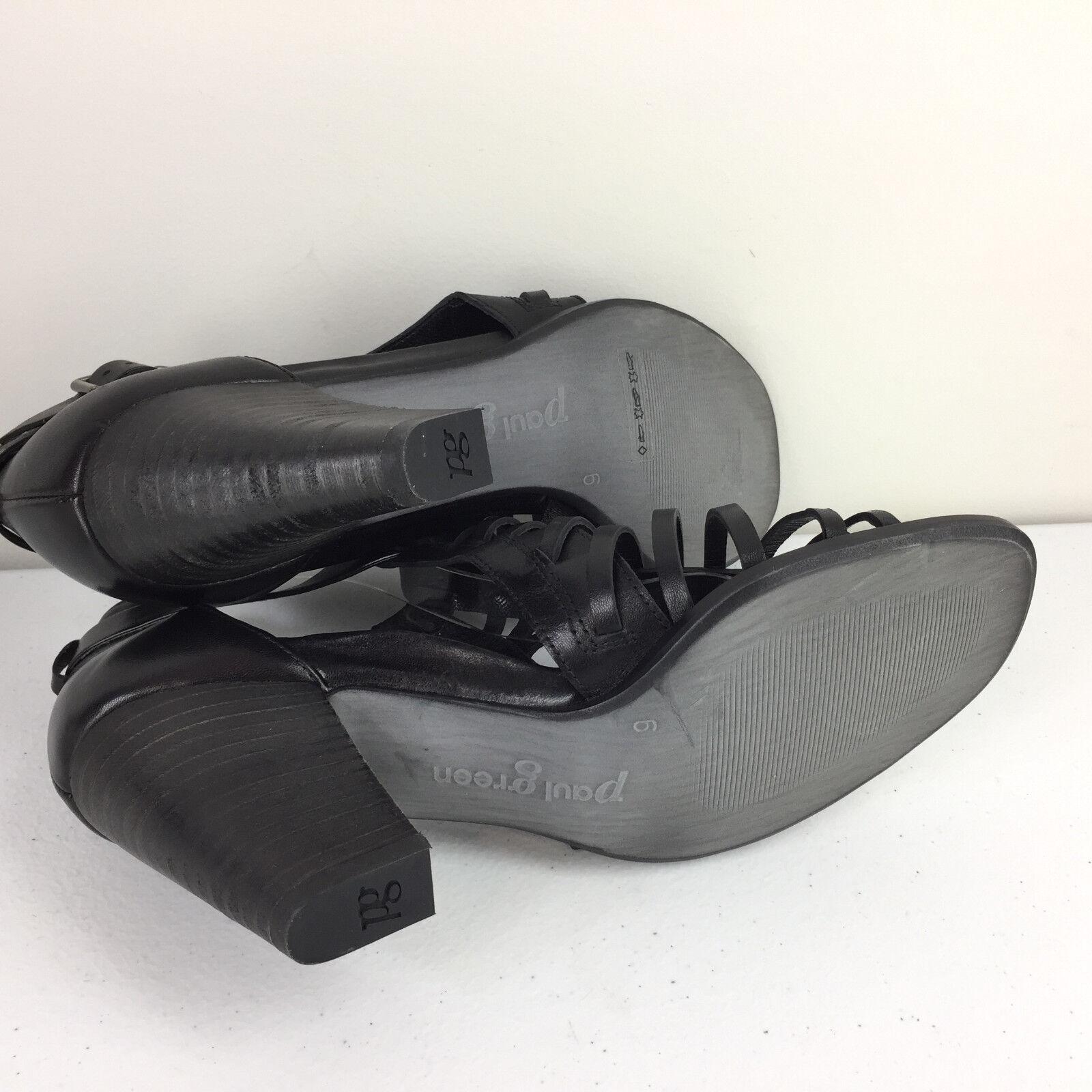 395 New Paul Green Black High Heel Sandals UK UK UK 6 US 8.5 fisherman 621736