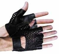 Vance Leather Mesh Back Fingerless Glove VL429
