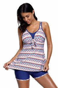 d53e40477e Image is loading Cali-Chic-Juniors-039-Swimsuits-Celebrity-Aztec-Print-