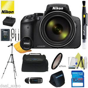 Nikon COOLPIX P900 16MP Digital Camera with 83x Optical Zoom BLACK + 16GB Bundle 18208264995