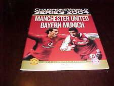 2004 Manchester United v Bayern Munich Champions World Series Soccer Program