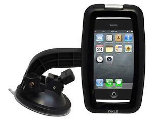 NEW-Pyle-PSIC55-iPhone-iPod-Waterproof-Case-W-Headphone-Jack-W-Car-Mount