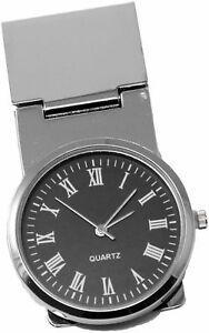 Round-Black-Watch-Stainless-Steel-Hinged-Money-Clip