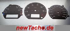 VW Corrado g60 discos de tacómetro Porsche carbon óptica gauge velocímetro dial plates speedo