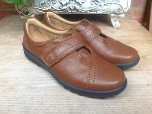 HOTTER-SHADOW-TAN-REAL-LEATHER-ADJUSTABLE-STRAP-SHOES-SIZE-UK-5