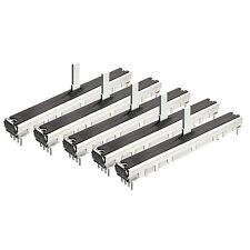 5x ALPS RS6011DP 10K stereo log. Schiebepoti Poti Schiebeweg 60mm L 75mm P-Fader