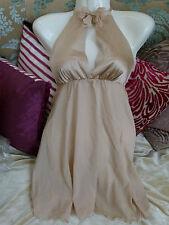 MYLA Valentine bridal silk champagne nude Chrissie Babydoll Size S