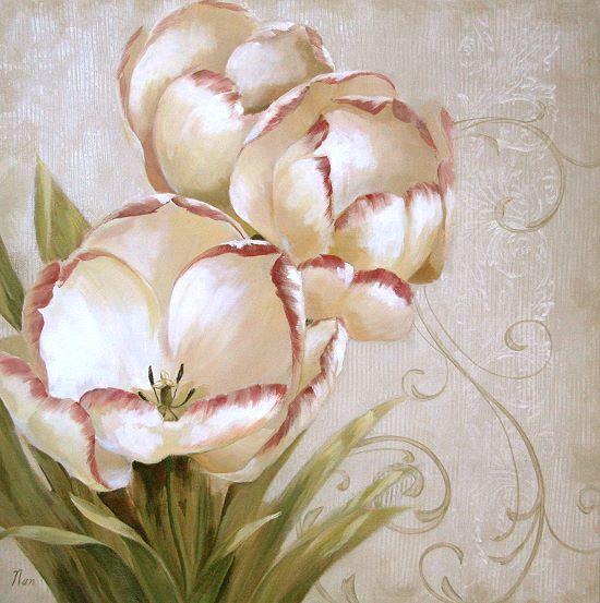 Nan  perfect blooms i COMPLETO - 50x50 Immagine Muro Muro Muro Immagine Fiori Tulipani 3e6696