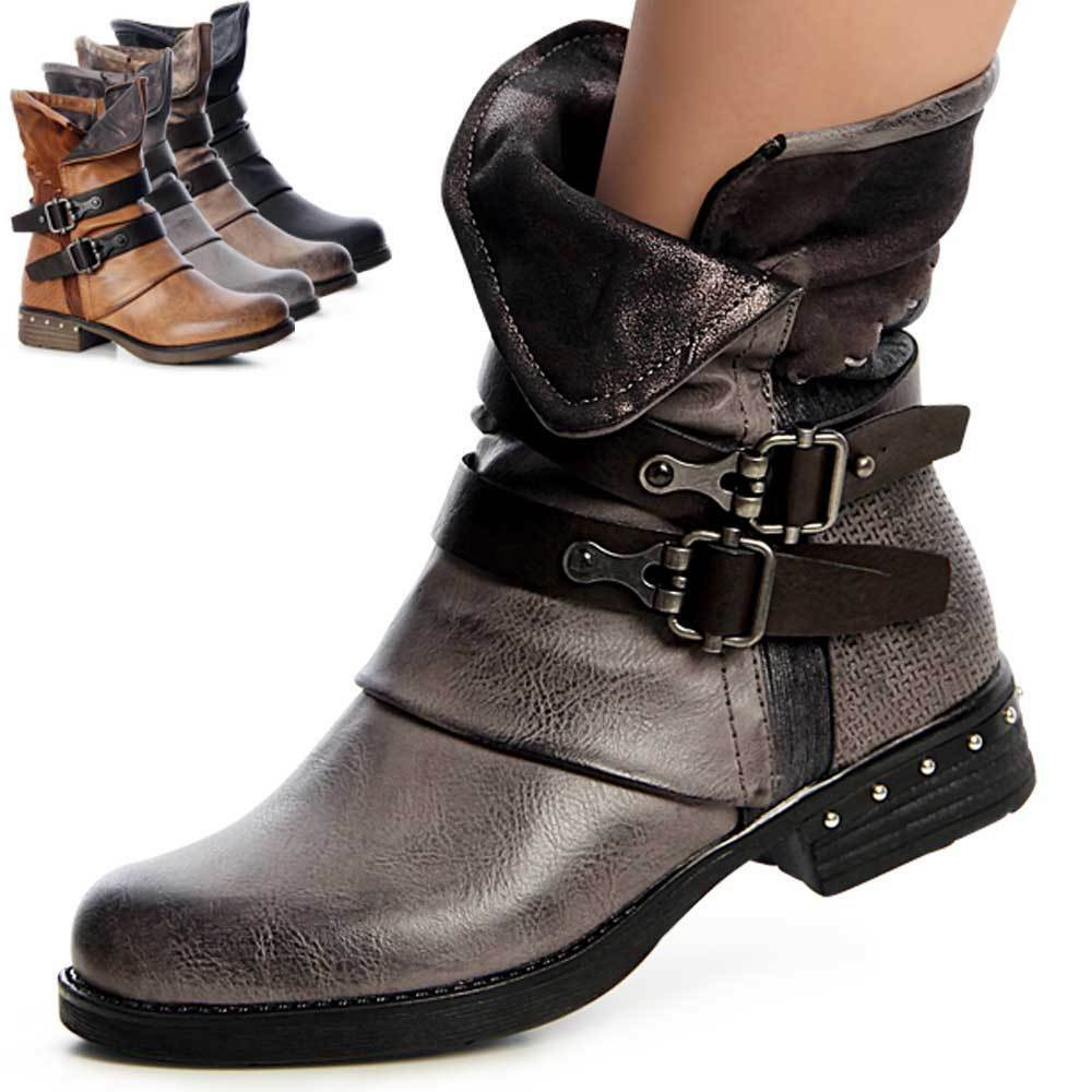 Ladies' Shoes Worker Boots Ankle Boots Boots Boots Lace up Boots Studs