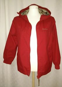 Quechua-Boys-Hooded-Jacket-Coat-Eur-Size-Age-10-Fully-Lined-Red