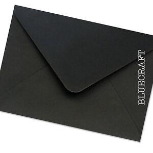 12-x-C6-JET-BLACK-PREMIUM-Buste-114-x-162mm-4-49-x-6-38-pollici-invita