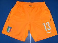 no maglia short calcio italia puma match worn usato size L nr 13